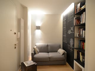 Ispirazione nordica Soggiorno minimalista di ministudio architetti Minimalista