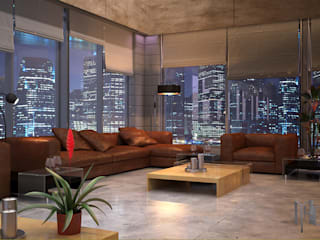 Living room by MHD Design Group, Modern