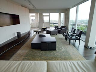 Appartement Chelsea Salas de estar modernas por Atelier TO-AU Moderno