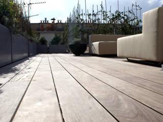 Terrasse Balcon, Veranda & Terrasse modernes par Atelier TO-AU Moderne