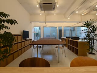 coworking space in 5th Avenue Modern study/office by SHUSAKU MATSUDA & ASSOCIATES, ARCHITECTS Modern