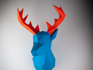 Papertrophy - Papercraft Elk Wallart von Papertrophy Ausgefallen
