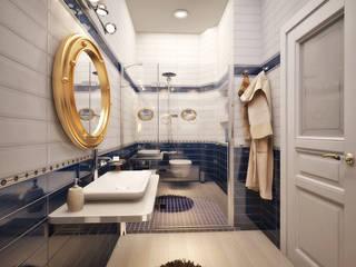 地中海スタイルの お風呂・バスルーム の Студия дизайна Interior Design IDEAS 地中海