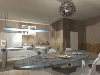 """RISTRUTTURAZIONE LOFT """"A"""" - VIA SOLARI (MI) - 2012/13 Cucina in stile industriale di Davide Teli_ARCHITETTO Industrial"""