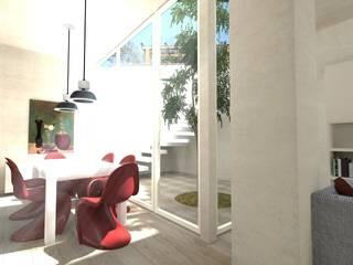"""RISTRUTTURAZIONE LOFT """"B"""" - VIA SOLARI (MI) Sala da pranzo in stile scandinavo di Davide Teli_ARCHITETTO Scandinavo"""