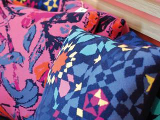 Coussin tissé laine & coton par TI MOUTIK Éclectique