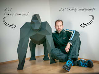 Papercraft Gorilla von Papertrophy Minimalistisch