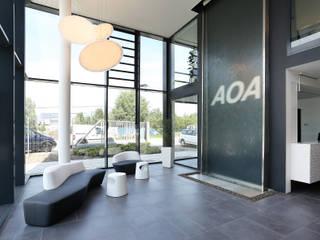 Bürogebäude der AOA Apparatebau Gauting GmbH - Firmensitz Dresden:  Bürogebäude von Büro für Innenarchitektur Heike Enke,Modern