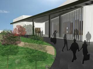 Tanatorio con Crematorio en Camino del Cementerio y Almola, Adra Jardines de estilo moderno de Estudio de Arquitectura - Jose Luis Remacho Moderno