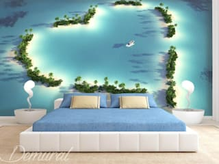 Photo wallpapers in bedroom: modern  by Demural, Modern