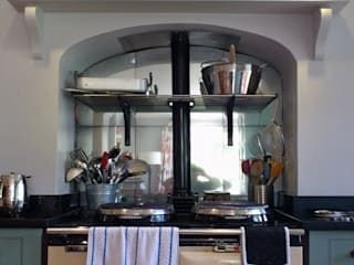 Kitchens Cocinas de estilo rural de Mirrorworks, The Antique Mirror Glass Company Rural