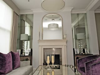 Living & Dining Rooms Ruang Keluarga Klasik Oleh Mirrorworks, The Antique Mirror Glass Company Klasik