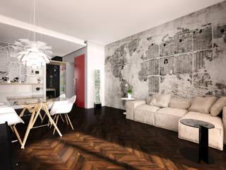 ミニマルデザインの リビング の Graziella Fittipaldi Architetto ミニマル