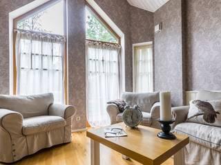 Scandinavian style living room by Belimov-Gushchin Andrey Scandinavian