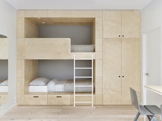 minimalistic Nursery/kid's room by INT2architecture