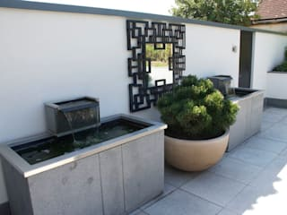 Bespoke water features - pair of stone troughs od Barry Holdsworth Ltd