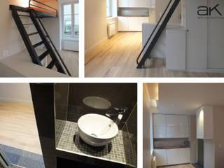 Réhabilitation studio à Clermont-Ferrand Maisons modernes par A/K architectures Moderne
