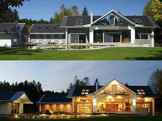 Villa mit Schwimmteich München / Baldham:   von AKS Architekturbüro Klose + Sticher, Partnerschaftsgesellschaft