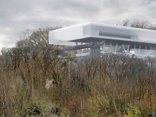 Vue de bas: Palais des congrès de style  par Wen Qian ZHU Architecture