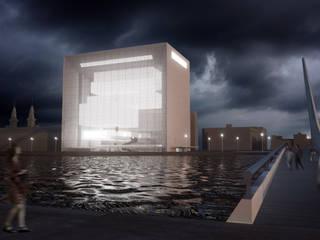 Vue de nuit: Musées de style  par Wen Qian ZHU Architecture