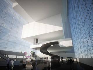 Vue de Hall d'entrée: Musées de style  par Wen Qian ZHU Architecture