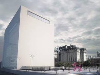 Vue de la place: Musées de style  par Wen Qian ZHU Architecture