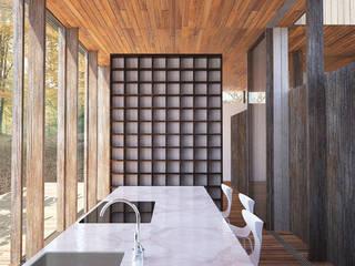 VILLA G: Maisons de style  par Wen Qian ZHU Architecture