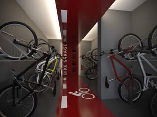 Bike Garage: Garagens e edículas  por Ideia1 Arquitetura,Moderno