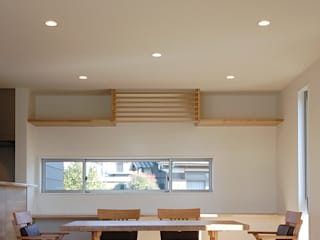 Modern dining room by スペースキューブ一級建築士事務所/Space Cube Modern