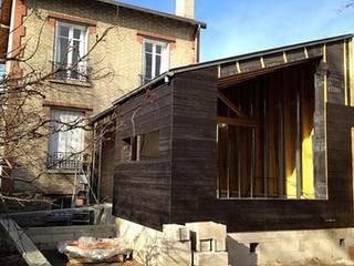 Création d'une extension de type HQE à ossature bois à Colombes (92) Philippe Gobin Architecte