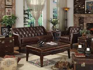 Decorating with Full Genuine Leather Furniture Living Room Locus Habitat Living roomSofas & armchairs
