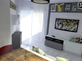 Living room by start.arch architettura,