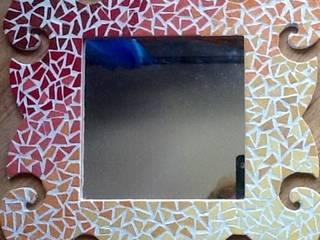 Miroir mosaiques émaux de Briare:  de style  par magalinearts