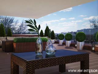 Дизайн открытой террасы на крыше здания. от дизайн-студия Nw-interior