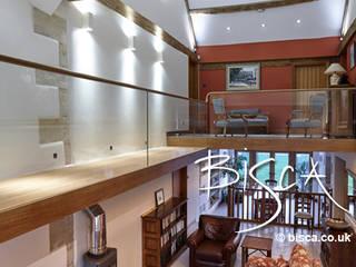 New Farmhouse Staircase 3843 Bisca Staircases Vestíbulos, pasillos y escalerasEscaleras