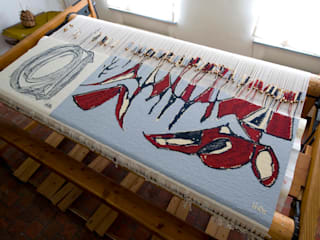 Wandtapijt handgeweven - Landscape I, 2008: modern  door Galerij Theaxus, Modern