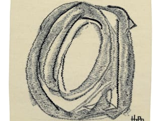 Wandtapijt handgeweven - Moving Circle I, 2008: modern  door Galerij Theaxus, Modern
