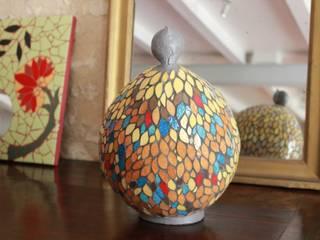 Poule en mosaïque par Mosa-Louisa Éclectique