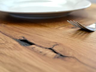 RECLAIMED FRENCH OAK DINING ROOM TABLE:   by Jam Furniture