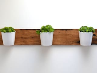 RECLAIMED FRENCH WAGON OAK HORIZONTAL PLANTER: modern  by Jam Furniture, Modern