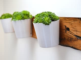 RECLAIMED FRENCH WAGON OAK HORIZONTAL PLANTER: industrial  by Jam Furniture, Industrial