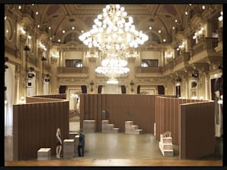 Czech nature exhibition Espacios comerciales de estilo moderno de studio deFORM Moderno