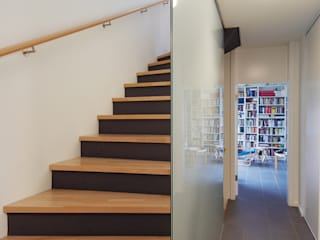 Einfamilienhaus in Kronberg Moderner Flur, Diele & Treppenhaus von Anne.Mehring Innenarchitekturbüro Modern