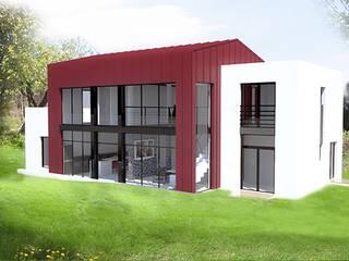 Maison au Pradet: Maisons de style  par CVARCHITECTE
