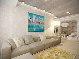 квартира в теплых тонах Гостиная в стиле модерн от Makhrova Svetlana Модерн