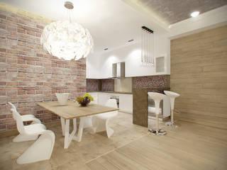 квартира в теплых тонах Кухня в стиле модерн от Makhrova Svetlana Модерн