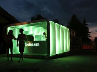 Pop Up bar for Heineken Espacios comerciales de estilo moderno de studio deFORM Moderno