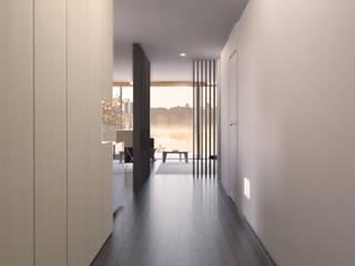 Appartamento sul Lago di Costanza ad Arbon: Ingresso & Corridoio in stile  di ZDA Zanetti Design Architettura