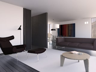 Appartamento sul Lago di Costanza ad Arbon: Soggiorno in stile in stile Moderno di ZDA Zanetti Design Architettura