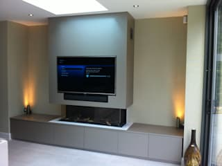 PROJECT IN LONDON Moderne mediakamers van Designer Vision and Sound Modern